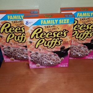 Lot of Three Family Size Travis Scott Cereal Boxes